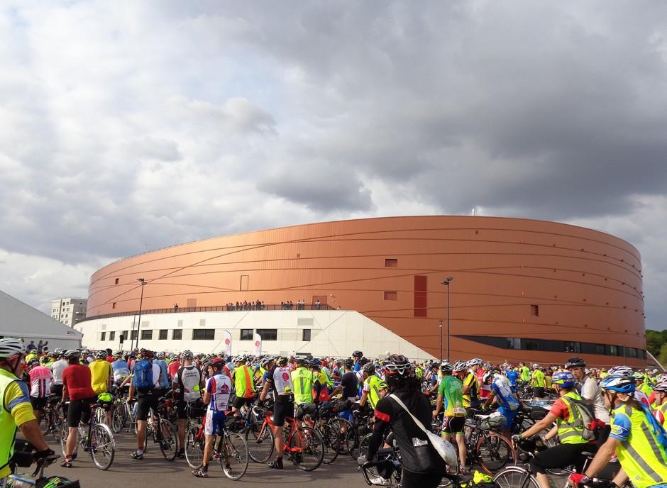 start und ziel: das velodrôme national in Montigny le Bretonneux
